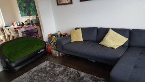 22-6-16 inflatable sofa and made.com sofa - aldi camping