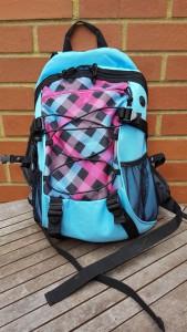 22-6-16 small rucksack -Aldi camping