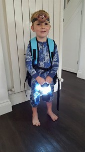 22-6-16 small rucksack and lights - aldi camping
