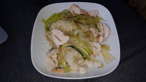 3-7-16 GallBladder eat clean healthy chicken, leeks, rice noodles