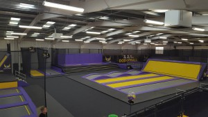 23-8-16 Gravity Force Trampoline dodgeball and basketball