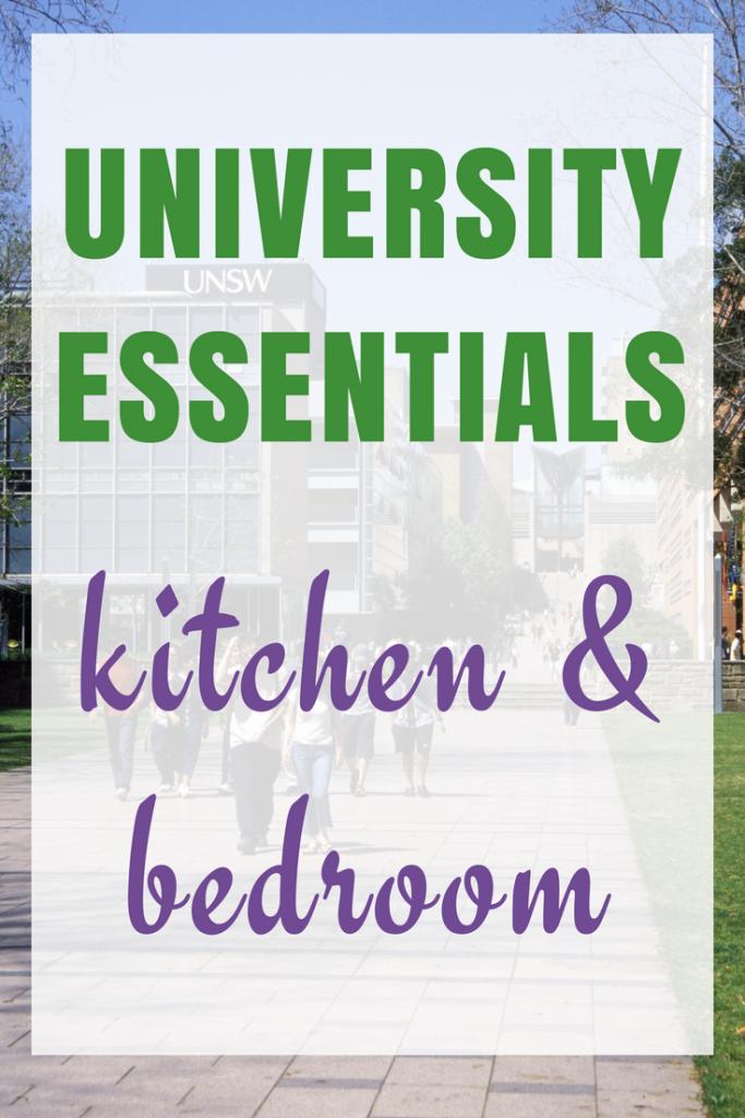 University Essentials List - Kitchen & Bedroom