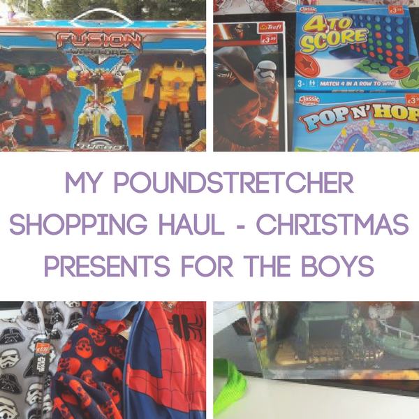 My Poundstretcher Shopping Haul - Christmas Presents for the Boys