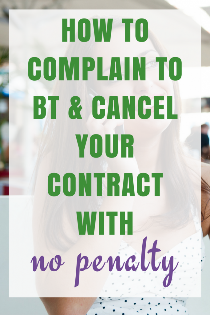 How to Complain to BT and cancel your contract with no penalty