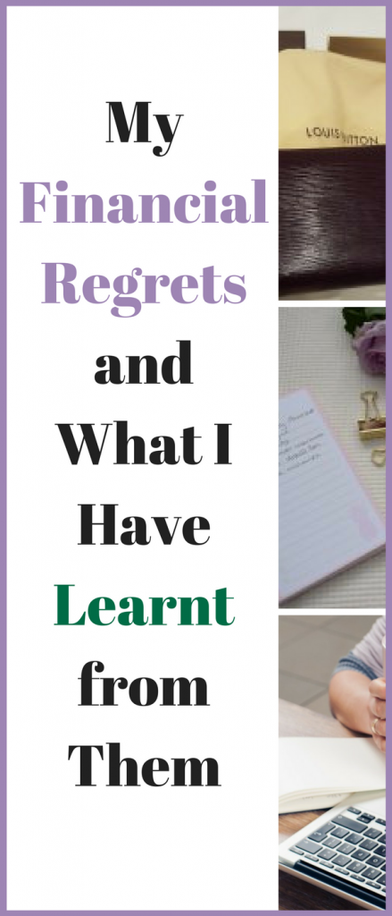 My financial regrets and what I have learnt from them. #Finance #Budgets #Money