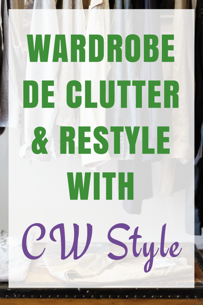 Wardrobe De-clutter and style session with Claire Wacey of CW Style