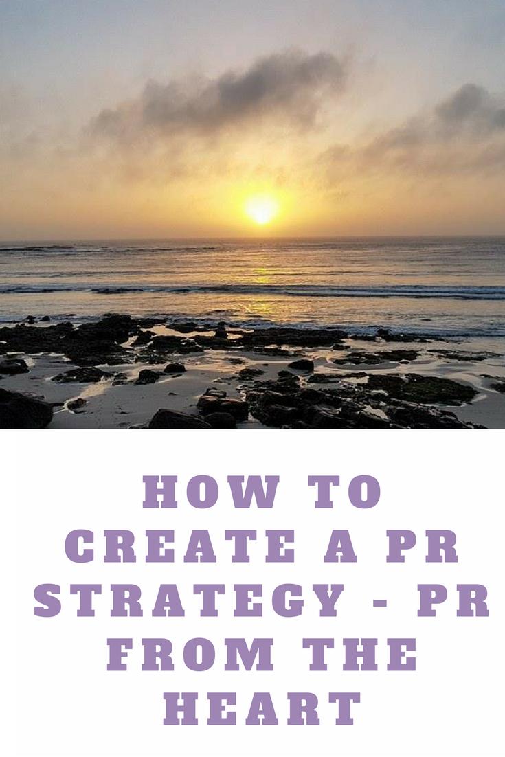 create a PR strategy