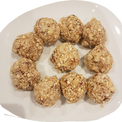 Looking for a healthy treat? Recipe for Honey, Peanut & Coconut Energy Balls