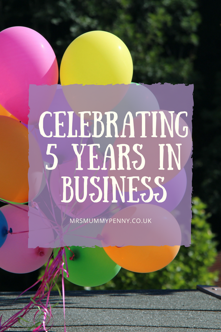 Happy Five Year Birthday Mrs Mummypenny & Three Year Birthday to MMP Ltd