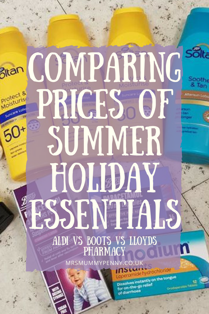 Summer Holidays Essentials Price Comparison | Boots vs