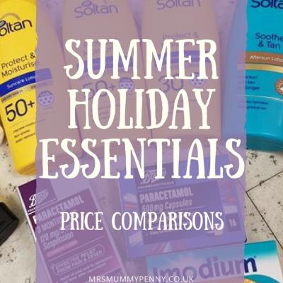 Summer Holidays Essentials Price Comparison | Boots vs Lloyds vs Aldi
