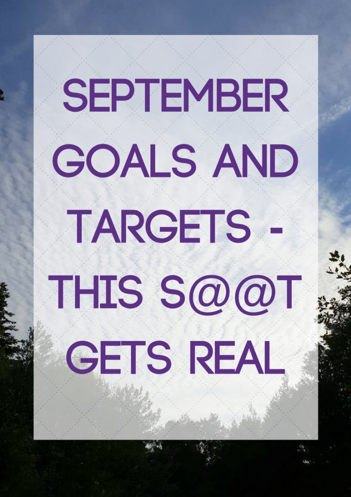 September goals and targets