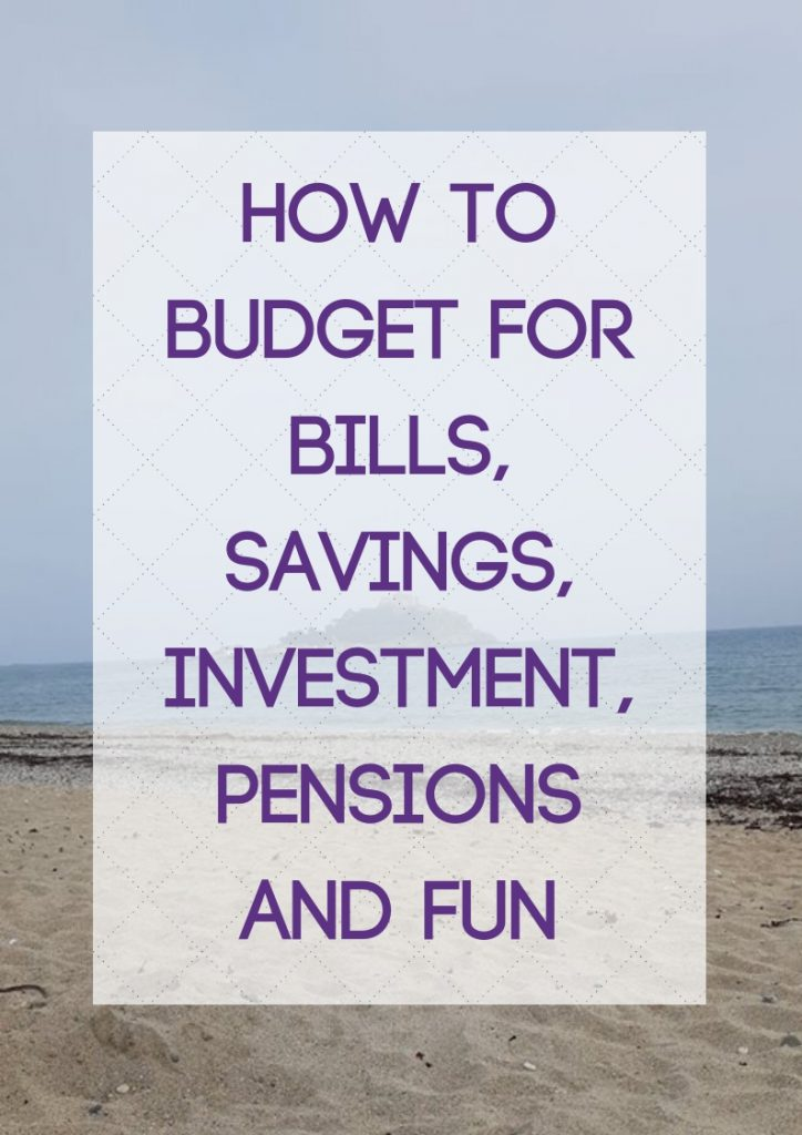 Budget for Bills, Savings, Investment