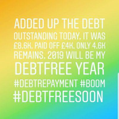 A Debt Repayment Celebration Update – January 2019