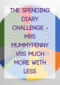 The Spending Diary Challenge – Mrs Mummypenny Vrs Much More With Less