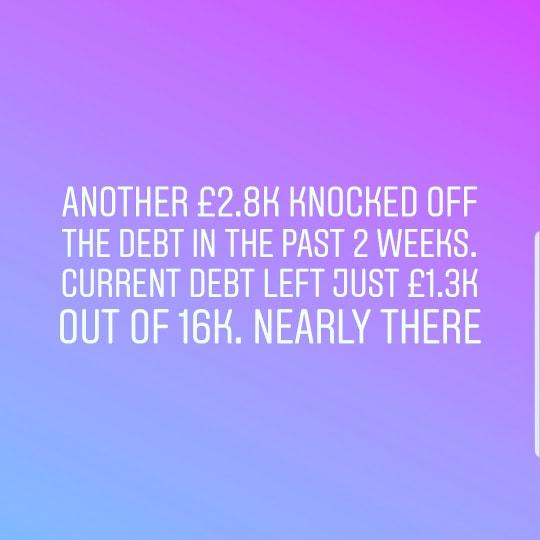 Huge Debt repayment