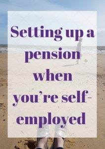 Setting up a pension when you're self-employed