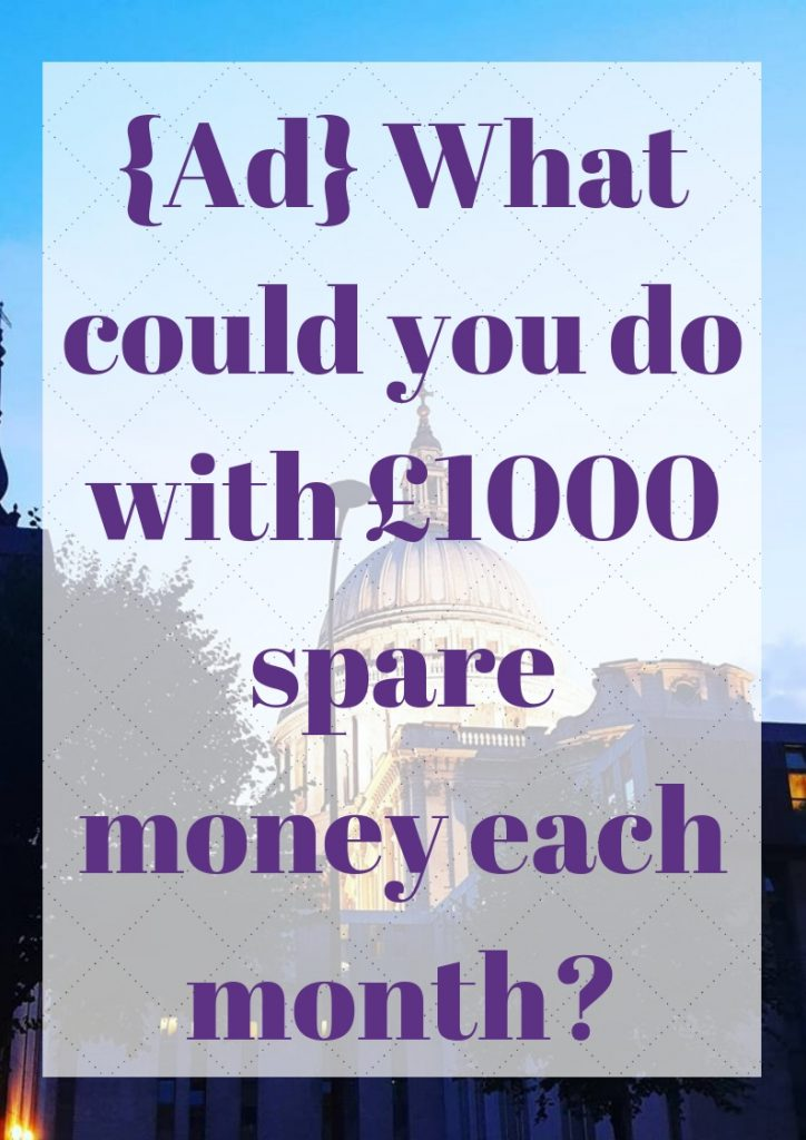 £1000 spare money each month