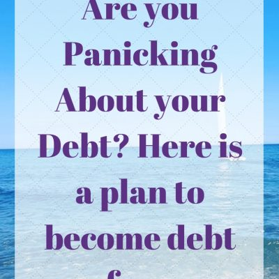 Are you Panicking About your Debt? Here is a plan to become debt free