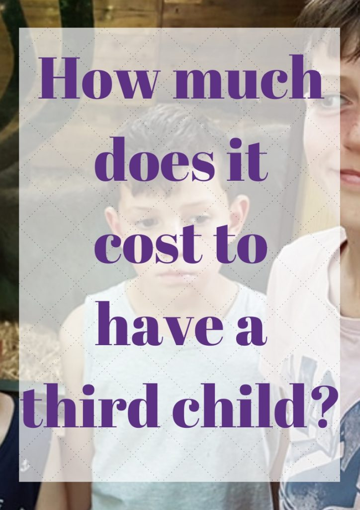how much does it cost to have a third child
