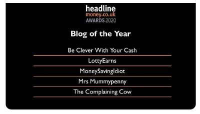 Monday Money #91 Shortlist Blog of The Year Headline Money Awards