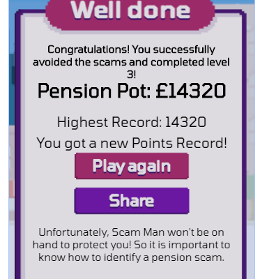 Scam-man & Robbin' – Retro game raising awareness of pension scams