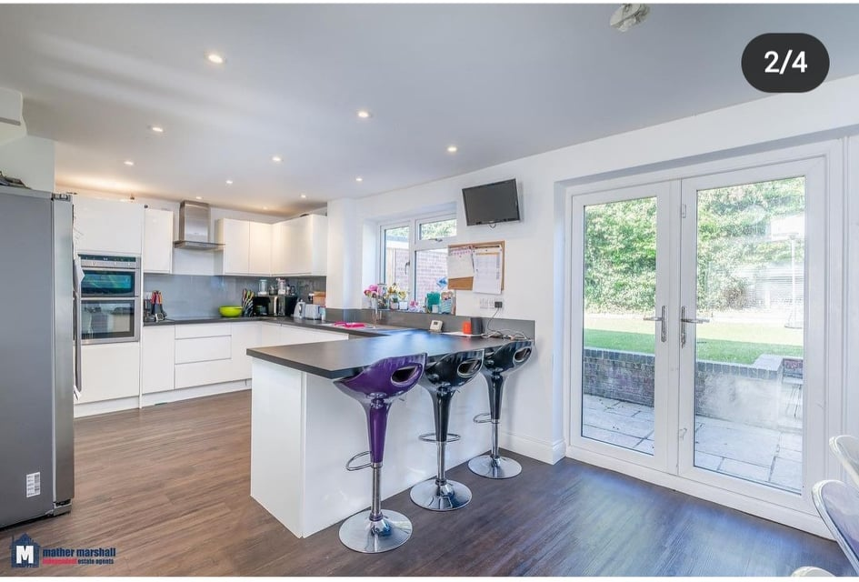 Buying and selling a house. My open plan kitchen